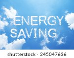 """energy saving"" cloud word on... 