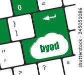 byod keyboard key of a notebook ... | Shutterstock . vector #245051086