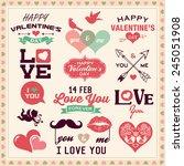 valentine's day typography ...   Shutterstock .eps vector #245051908