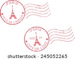 postal grunge stamps 'paris...