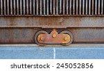 rust in iron door grunge metal  ... | Shutterstock . vector #245052856