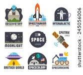 space logo set. observatory ...   Shutterstock .eps vector #245056006