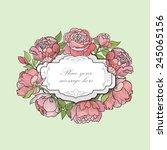 flower frame. floral border.... | Shutterstock .eps vector #245065156