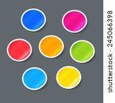 vector stickers. label design... | Shutterstock .eps vector #245066398