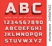 vector retro 3d font with... | Shutterstock .eps vector #245067622