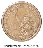One Us Dollar Coin With The...