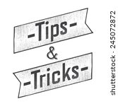 tips and tricks ribbon old... | Shutterstock .eps vector #245072872