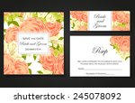 wedding invitation cards with... | Shutterstock .eps vector #245078092