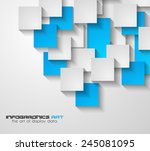 modern ui flat style... | Shutterstock .eps vector #245081095