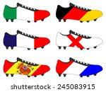 football cleats with national... | Shutterstock .eps vector #245083915
