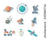 space icons. vector... | Shutterstock .eps vector #245084716