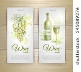 set of wine labels. grapes... | Shutterstock .eps vector #245089276