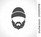 lumberjack hipster style... | Shutterstock .eps vector #245090998