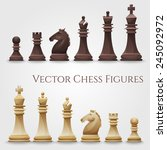 vector chess figures  black and ...