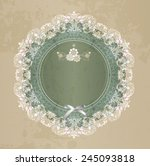 elegant lace gentle background. ... | Shutterstock . vector #245093818