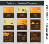 collection of website templates ... | Shutterstock .eps vector #245097565