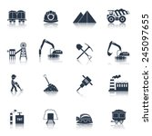 coal industry icons black set... | Shutterstock .eps vector #245097655