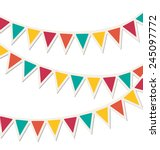 set of multicolored flat... | Shutterstock .eps vector #245097772