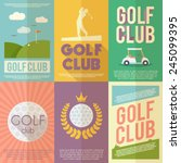 golf club competition... | Shutterstock .eps vector #245099395
