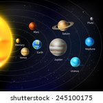 solar system background with... | Shutterstock .eps vector #245100175