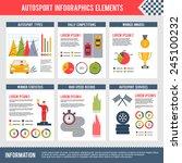 auto sport infographics set... | Shutterstock .eps vector #245100232