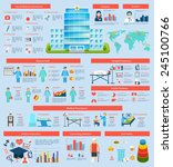 medical infographic set with... | Shutterstock .eps vector #245100766