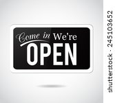 come in  we're open. vintage ... | Shutterstock . vector #245103652