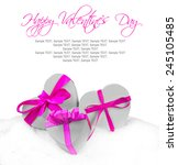 heart shaped gifts on white... | Shutterstock . vector #245105485