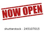 now open grunge rubber stamp on ... | Shutterstock .eps vector #245107015