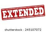 extended grunge rubber stamp on ... | Shutterstock .eps vector #245107072