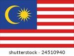 flag of malaysia original | Shutterstock . vector #24510940