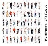 business idea teamwork... | Shutterstock . vector #245113198