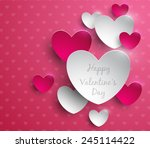 valentines day abstract... | Shutterstock .eps vector #245114422