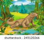 cartoon scene   wild asia... | Shutterstock . vector #245120266