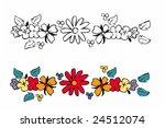 vector design tattoo of flowers ... | Shutterstock .eps vector #24512074