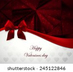 valentine greeting card   Shutterstock .eps vector #245122846