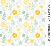 Vector Floral Pattern In Doodl...