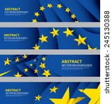 eu flag collection  european... | Shutterstock .eps vector #245130388