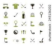 golf ball. vector logo. set... | Shutterstock .eps vector #245136202