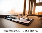 business of financial analysis... | Shutterstock . vector #245148676