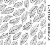 black and white leaves pattern. ... | Shutterstock .eps vector #245151745