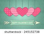 valentines greeting card... | Shutterstock . vector #245152738