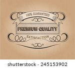 100 percent guaranteed premium... | Shutterstock .eps vector #245153902