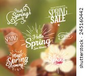 spring background. vector... | Shutterstock .eps vector #245160442