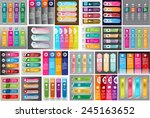 colorful modern text box... | Shutterstock .eps vector #245163652