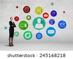 businesswoman and color... | Shutterstock . vector #245168218