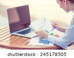 woman investment consultant...   Shutterstock . vector #245178505