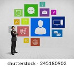 businessman and color... | Shutterstock . vector #245180902