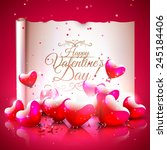 modern valentine's day greeting ... | Shutterstock .eps vector #245184406