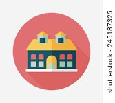 building flat icon with long...   Shutterstock .eps vector #245187325